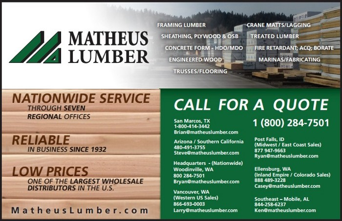 Matheus Lumber About